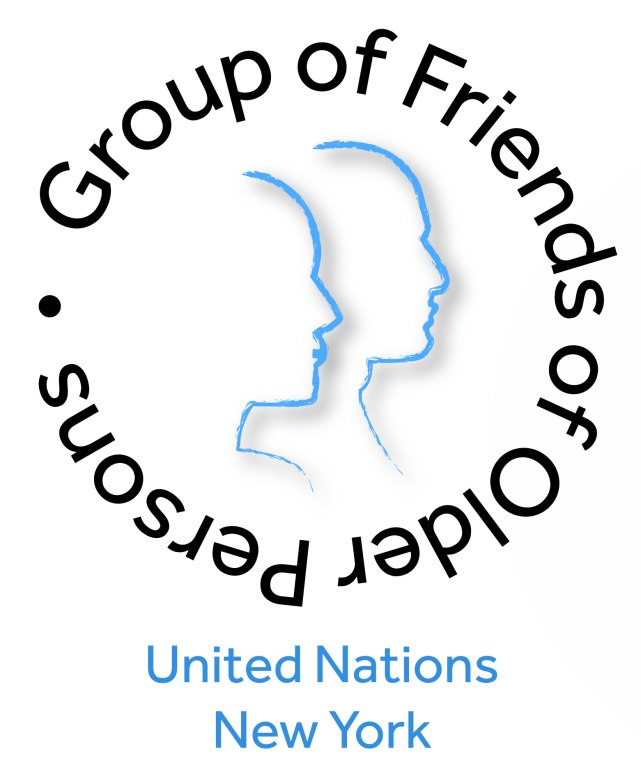 Group of friends of older person